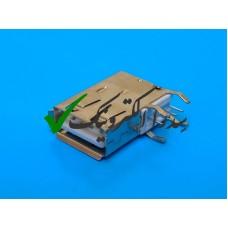 کانکتور USB 2.0 نوع A روبردی ماده رایت اتصال از کنار بلند