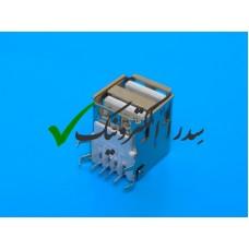 کانکتور USB 2.0 نوع A روبردی ماده رایت دوبل