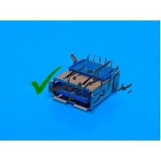 کانکتور USB 3.0 نوع A روبردی ماده رایت