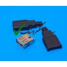 کانکتور USB 2.0 نوع A سرکابلی ماده