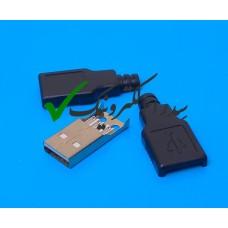 کانکتور USB 2.0 نوع A سرکابلی نر
