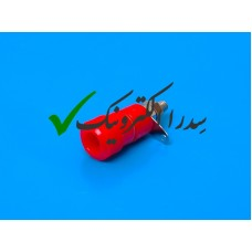 فیش موزی مادگی یا منبع تغذیه متوسط قرمز