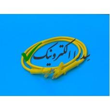 کابل دو سر سوسماری زرد درجه 1